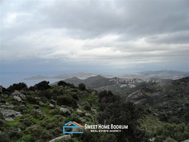 YALIKAVAK GERİS, 15.800m² LAND WITH SEA VIEW