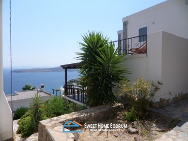 Gundogan, Bodrum 3+1 detached villa for sale with sea view