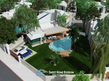 Ortakent Yahşi'de yeni proje lansman fırsatı 5+1 villa