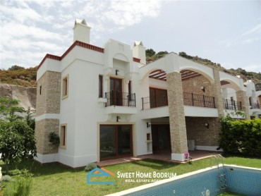 3+1 VILLA IN GOKCEBEL, YALIKAVAK WITH WIDE SEA VIEW
