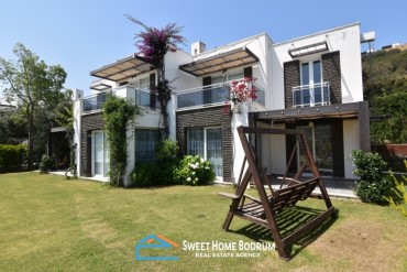 Bodrum, Gumusluk, Villa For Sale, Near To The Sea, In A Complex, With A View